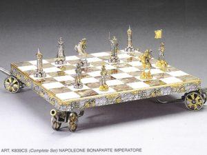 Emperor Napoleon Bonaparte Complete Chess Set(Board And Pieces)