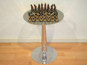 Aluminum Table And Masai Pieces
