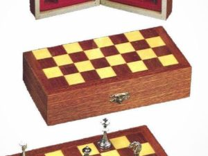 Type Mahogany Inlaid Chessboard (With Pieces)