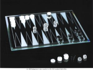Backgammon Two-Way Mirror (Dice And Fiches)