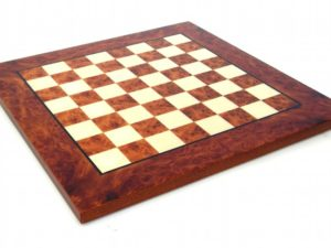 Briar Elm Wood Chessboard, Glossy Finish