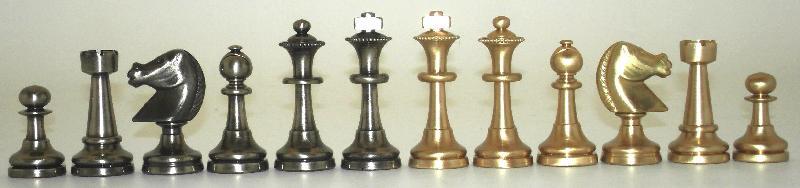 Big Staunton 32 Brass Chessmen