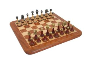 Chess Men And Board - Luxurious chess set with wooden chessboard
