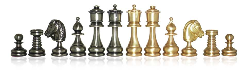 Small Persian Brass Chessmen
