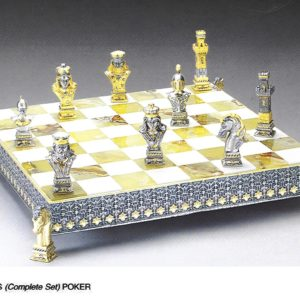 The Poker Complete Chess Set (Board And Pieces)