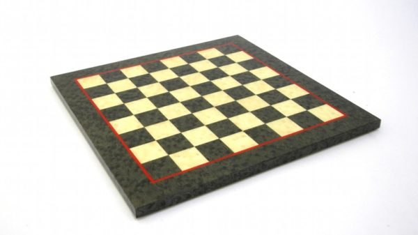 Briar Erable Wood, Green Color Chessboard (Glossy Finish)