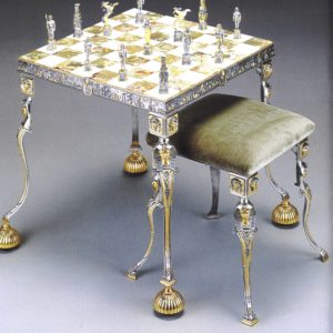Egyptian Chess Table