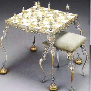Ancient Medioeval Theme Chess Table