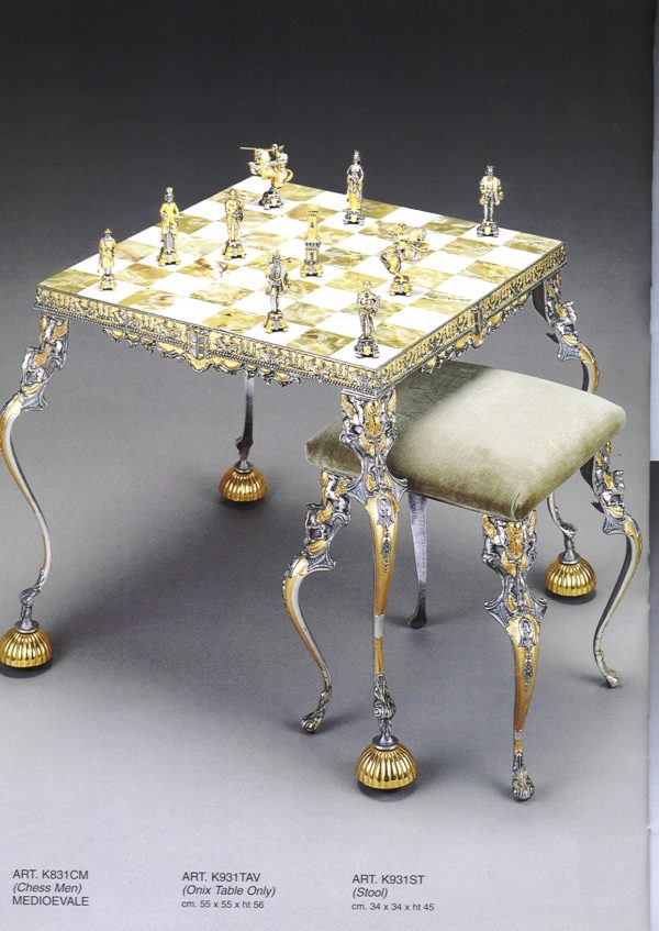 Ancient Medioeval Theme Chess Stool