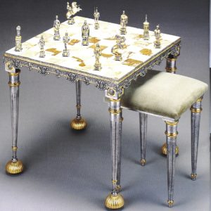 VaticanLansquenettes Chess Stool