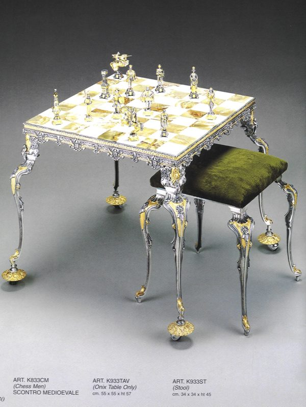 Medioeval Fight Chess Table