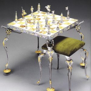 NapoleonDimitri Russian Campaign Chess Table