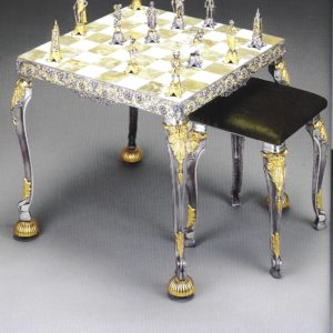 The Sun-king Luigi XIV Chess Table