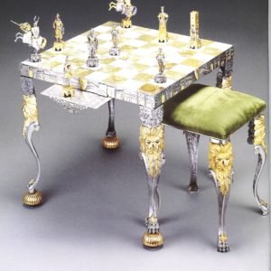 Medioeval Venetians Chess Stool