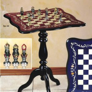 Spanish Inlay Erable Table Col.Wine
