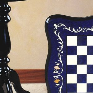 Spanish Inlay Erable Table Col.Blu