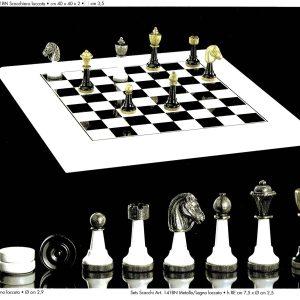 Laquering W&B Chessmen