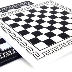 White Chessboard With Greek Frame