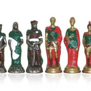 Barbarian-Romans Polychromatic Chessmen Handpainted
