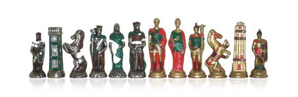 Barbarian-Romans Polychromatic Chessmen Handpainted