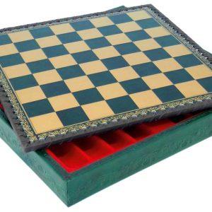 """Chessboard-Box (Green/Gold) - Square 1,3"""""""
