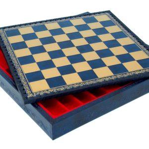 """Chessboard-Box (Blue/Gold) - Square 1,3"""""""