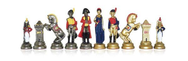 Blue Napoleonique Polychromatic Chessmen