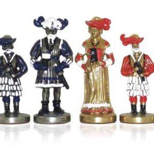 Lansquenettes Polychromatic Chessmen