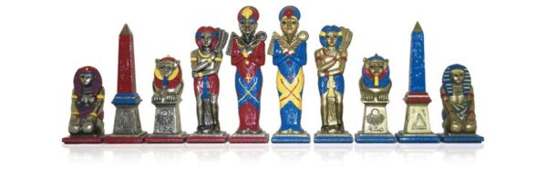 Big Egyptian Polychromatic Chessmen