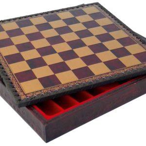 Mini Polychromatic Chessboard (Gold/Red)