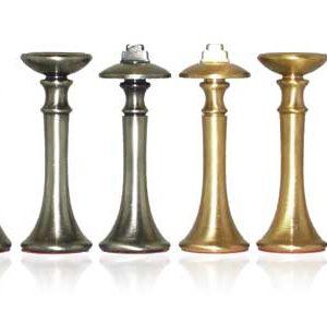 Classic Modern Solid Brass Chessmen