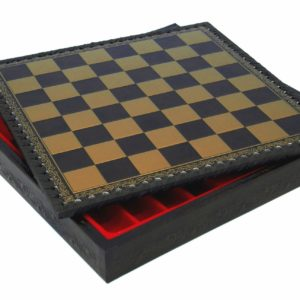 """Chessboard-Box (Black/Gold) - Square 1,3"""""""