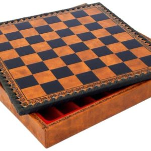 Lotario Simil Leather Chessboard