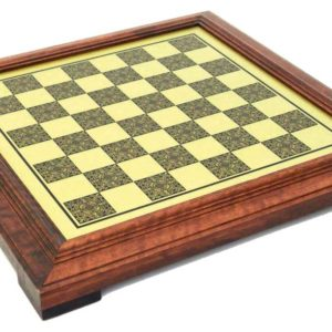 Brass Chessboard With Wooden Frame (Square 1,8 Inch)