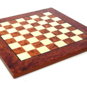 Briar Elm Wood Chessboard, Matt Finish (Square 2,7 Inch)