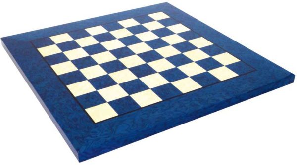 Briar Erable Wood, Blue Chessboard (Square 1,18 Inch)