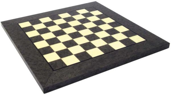 Briar Elm Wood Chessboard, Glossy Finish