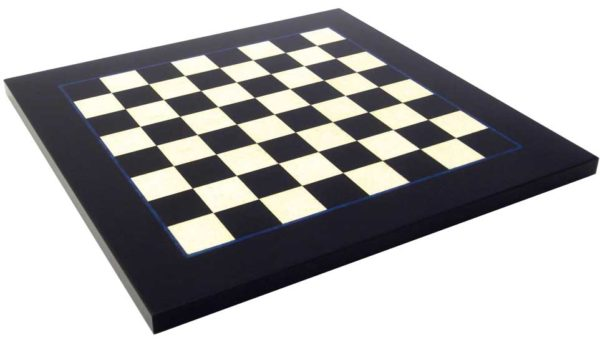 Briar Erable Wood, Black Chessboard, Glossy Finish (Square 1.9 Inch)