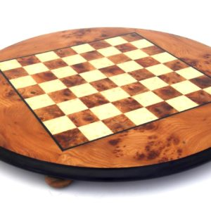 Briar Elm Wood, Round Chessboard