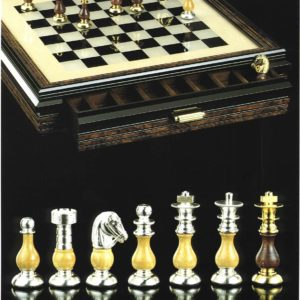 Royal BrassWood Chessmen(GoldSilver)