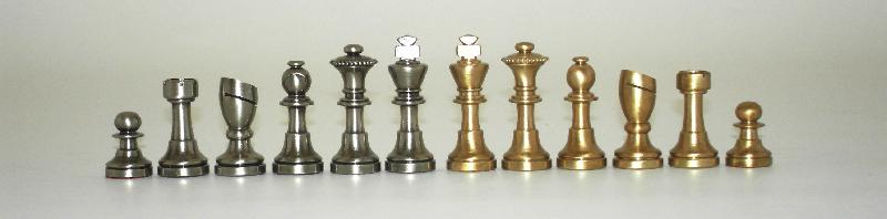 Little Brass Staunton Chessmen