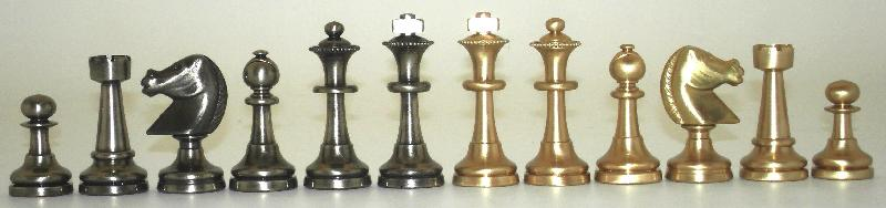 Big Staunton 32 Brass Chessmen