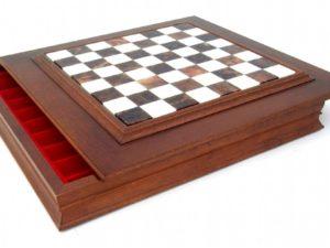 Big Staunton 32 Brass Chessboard