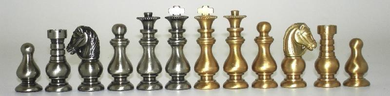 French Style Class Brass Chessmen