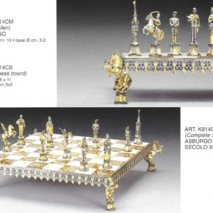 The Hasburg Lorraine Century XVIII Complete Chess Set (Board And Pieces)
