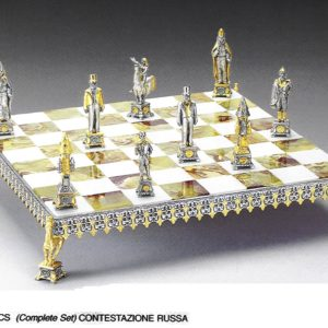 The Russian Revolution Complete Chess Set(Board And Pieces)