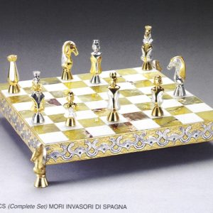 Moresques Invaders Of Spain Complete Chess Set (Board And Pieces)