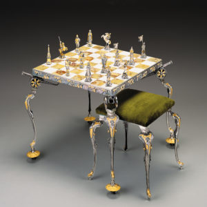 NapoleonDimitri The Russian Campaign Chess Stool